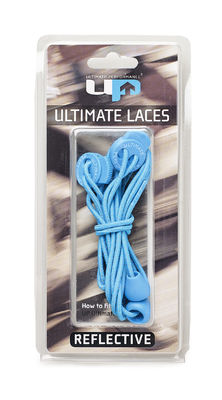 UP Elastic Laces - Teal Reflect, HEIJASTAVAT KENGÄNNAUHAT - TEAL
