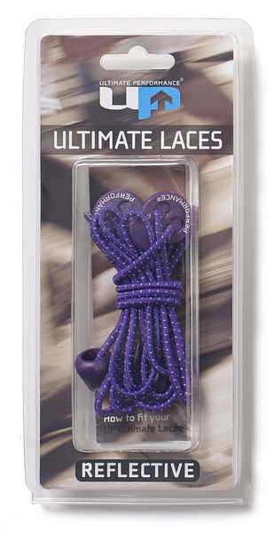 UP Elastic Laces - Purple, HEIJASTAVAT KENGÄNNAUHAT - VIOLETTI